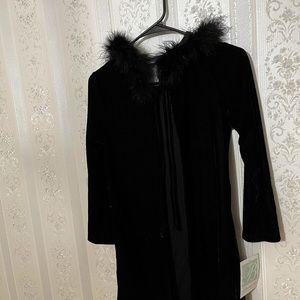 Girls velvet black Cardigan